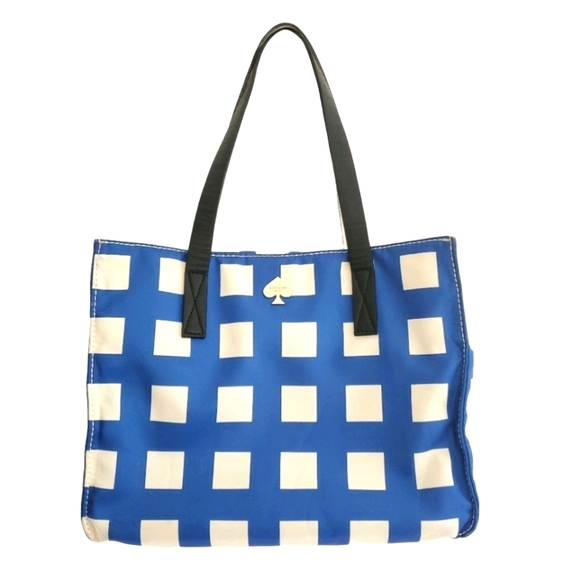 Kate Spade Blue and White Canvas Bag